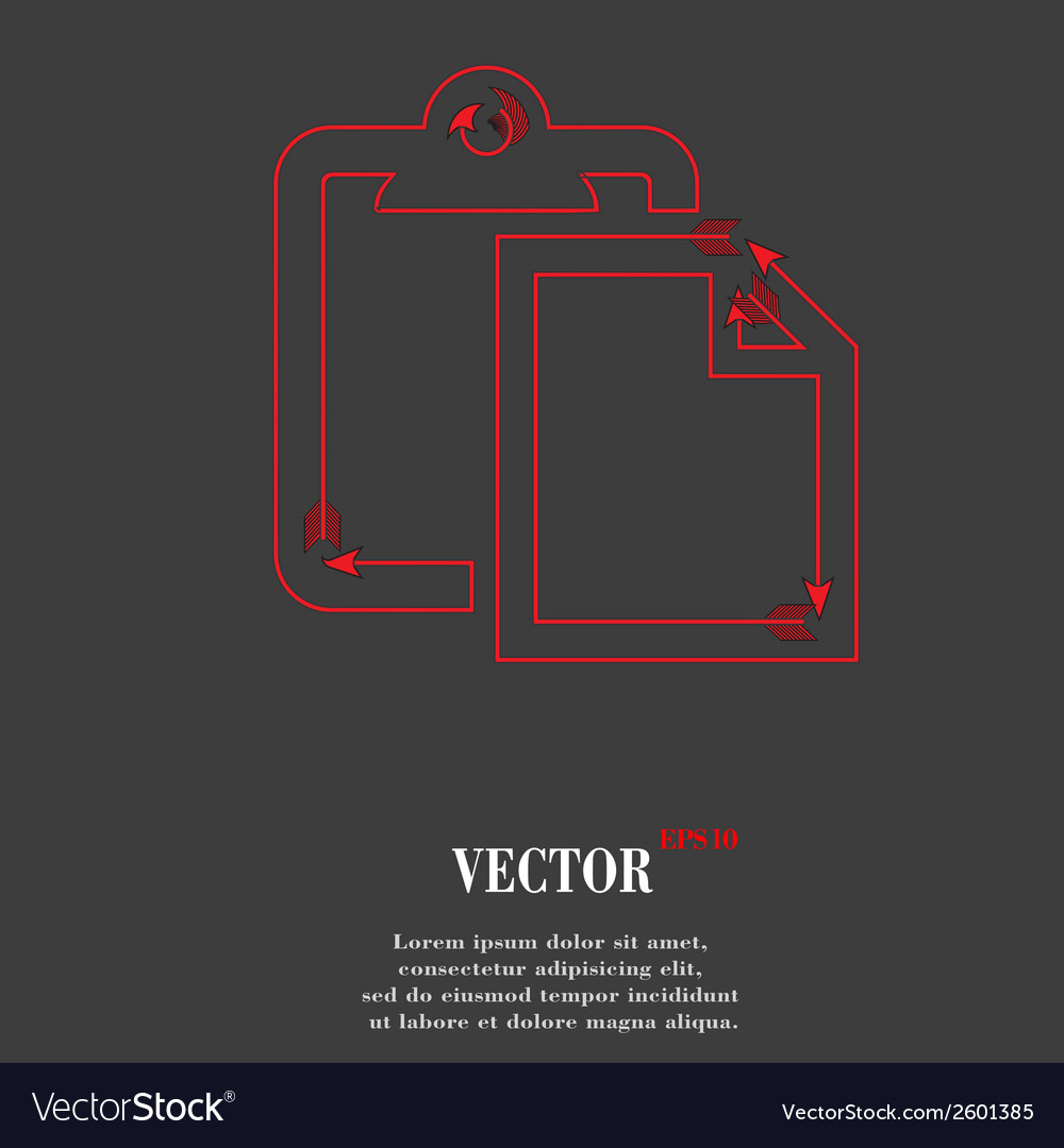 Blank paper flat modern web button and space for vector | Price: 1 Credit (USD $1)