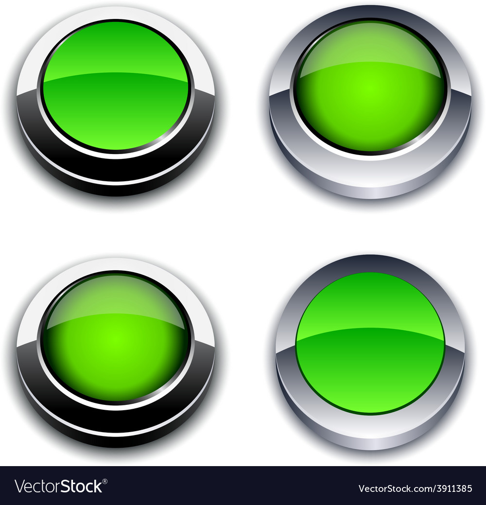 Green 3d buttons vector   Price: 1 Credit (USD $1)
