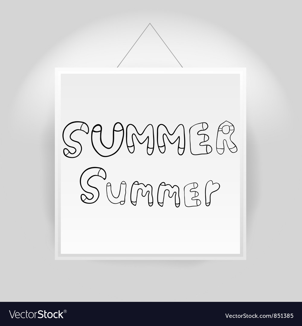 Hand drawn summer font vector | Price: 1 Credit (USD $1)