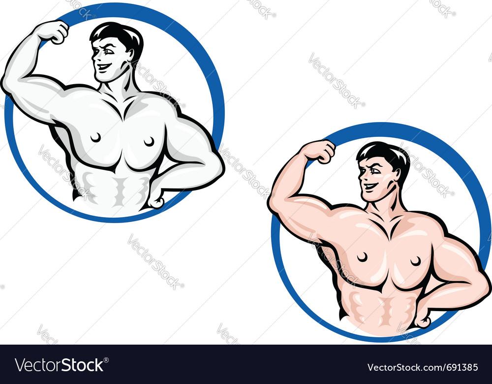 Powerful bodybuilder vector | Price: 1 Credit (USD $1)