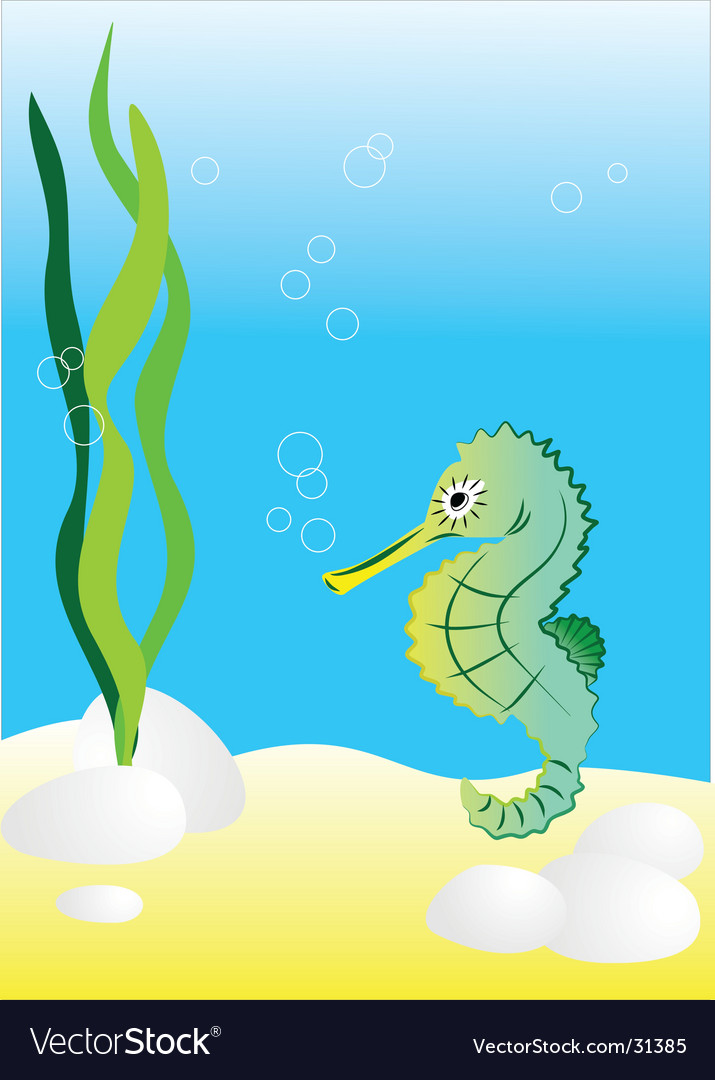 Seahorse illustration generated on co vector | Price: 1 Credit (USD $1)