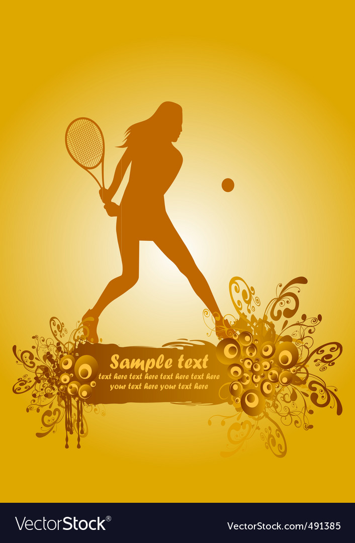Tennis poster vector | Price: 1 Credit (USD $1)
