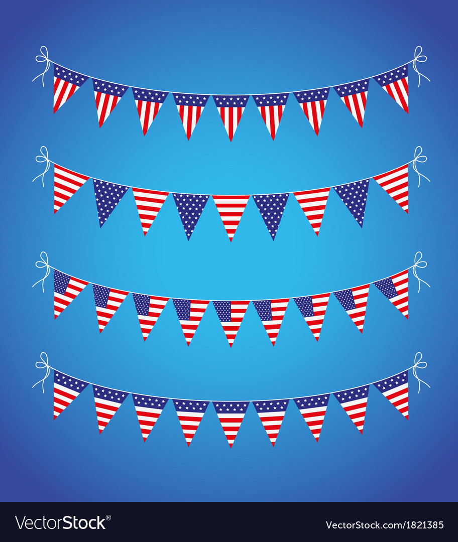 Usa bunting vector | Price: 1 Credit (USD $1)