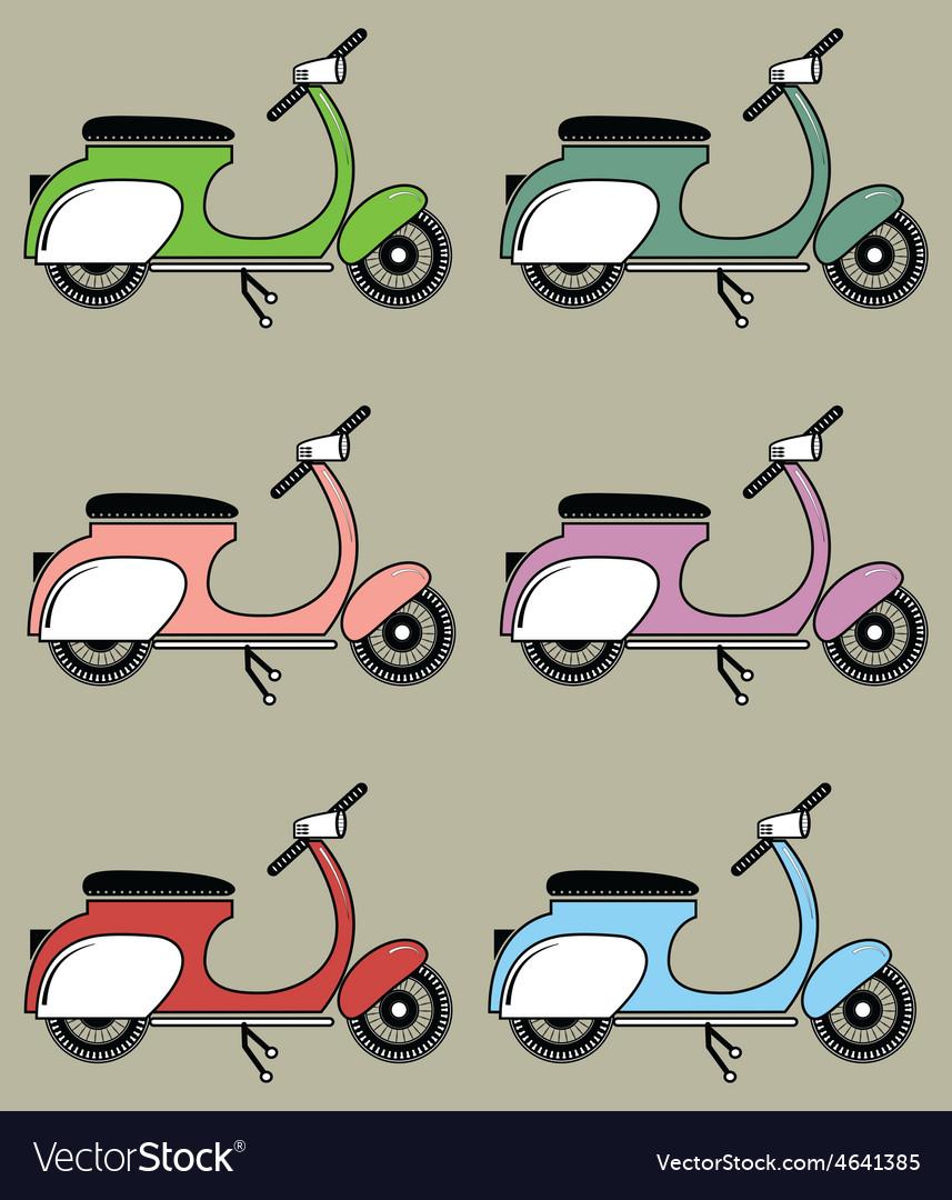 Vintage scooters ii vector | Price: 1 Credit (USD $1)
