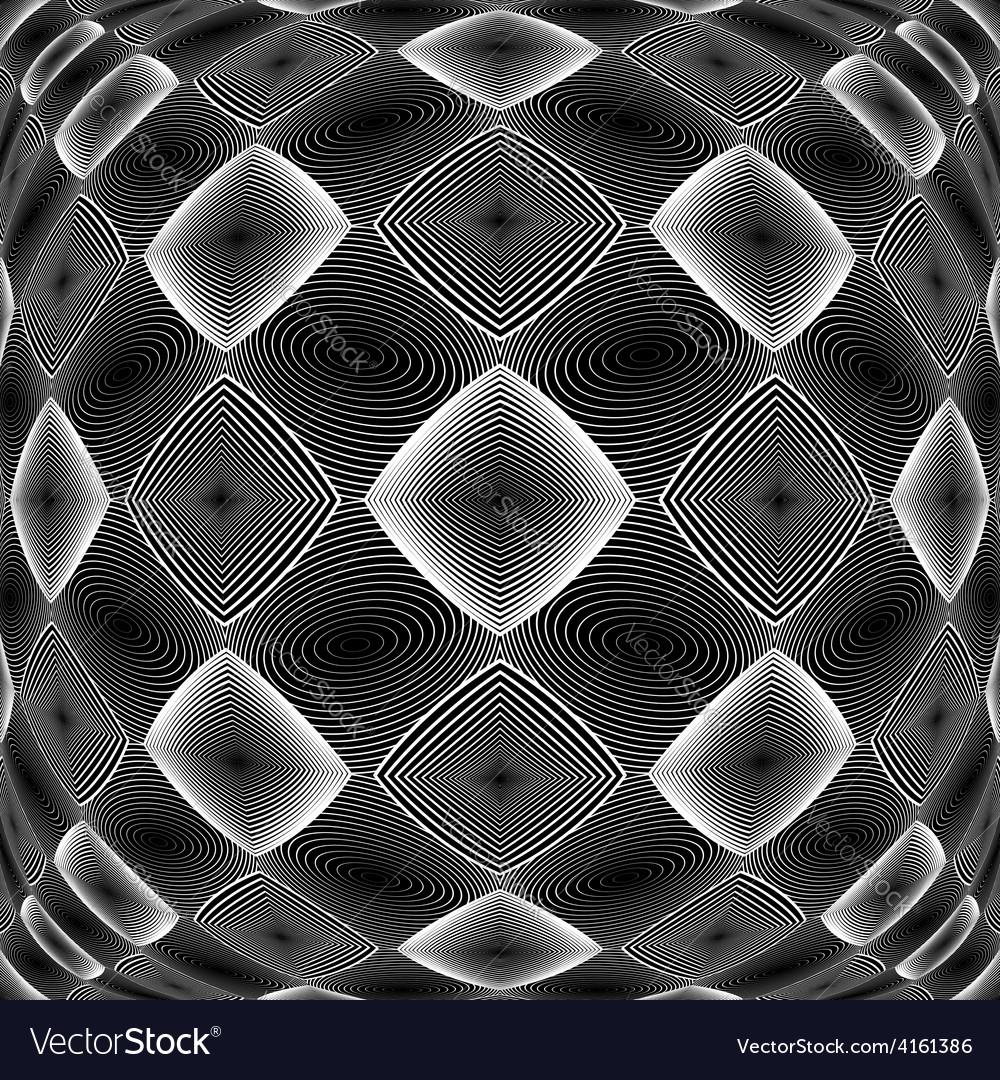 Design warped monochrome diamond pattern vector | Price: 1 Credit (USD $1)