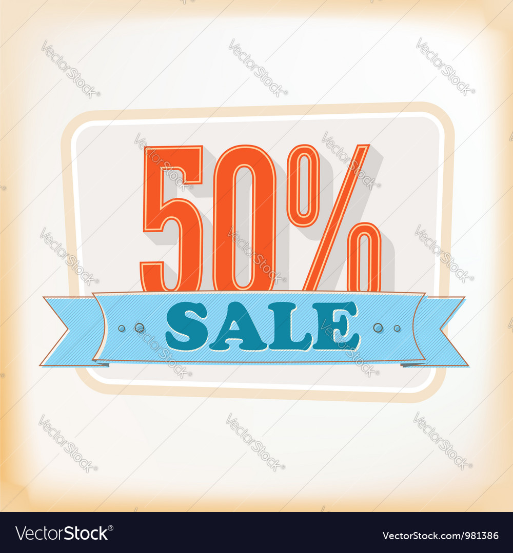 Discount labels 50 vector   Price: 1 Credit (USD $1)