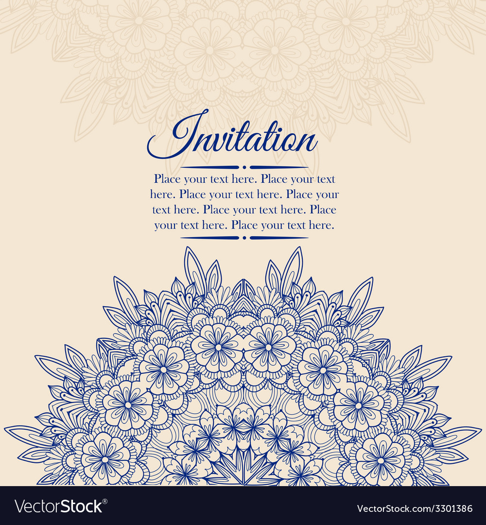 Elegant vintage background with lace ornament vector | Price: 1 Credit (USD $1)