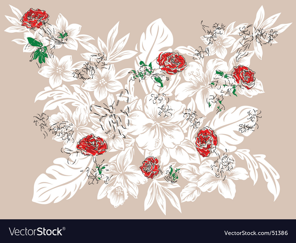 Flower rose vector | Price: 1 Credit (USD $1)