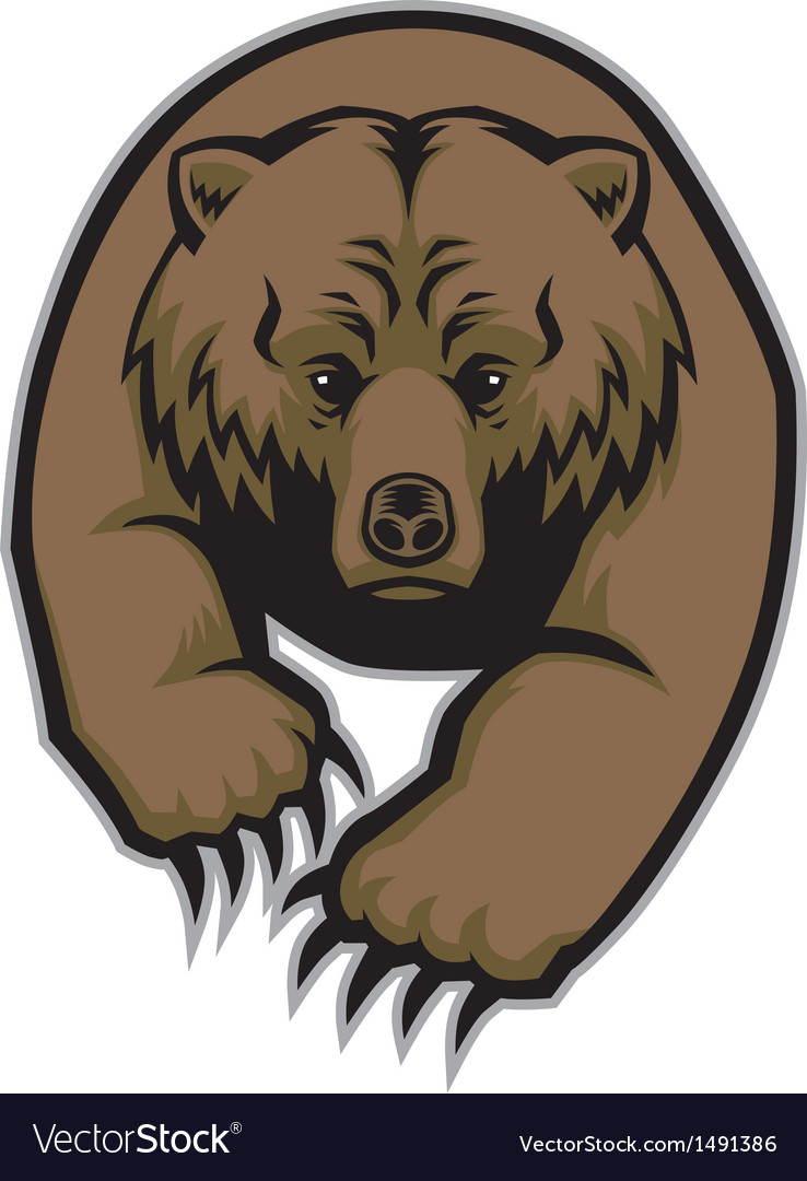 Grizzly bear mascot vector | Price: 1 Credit (USD $1)