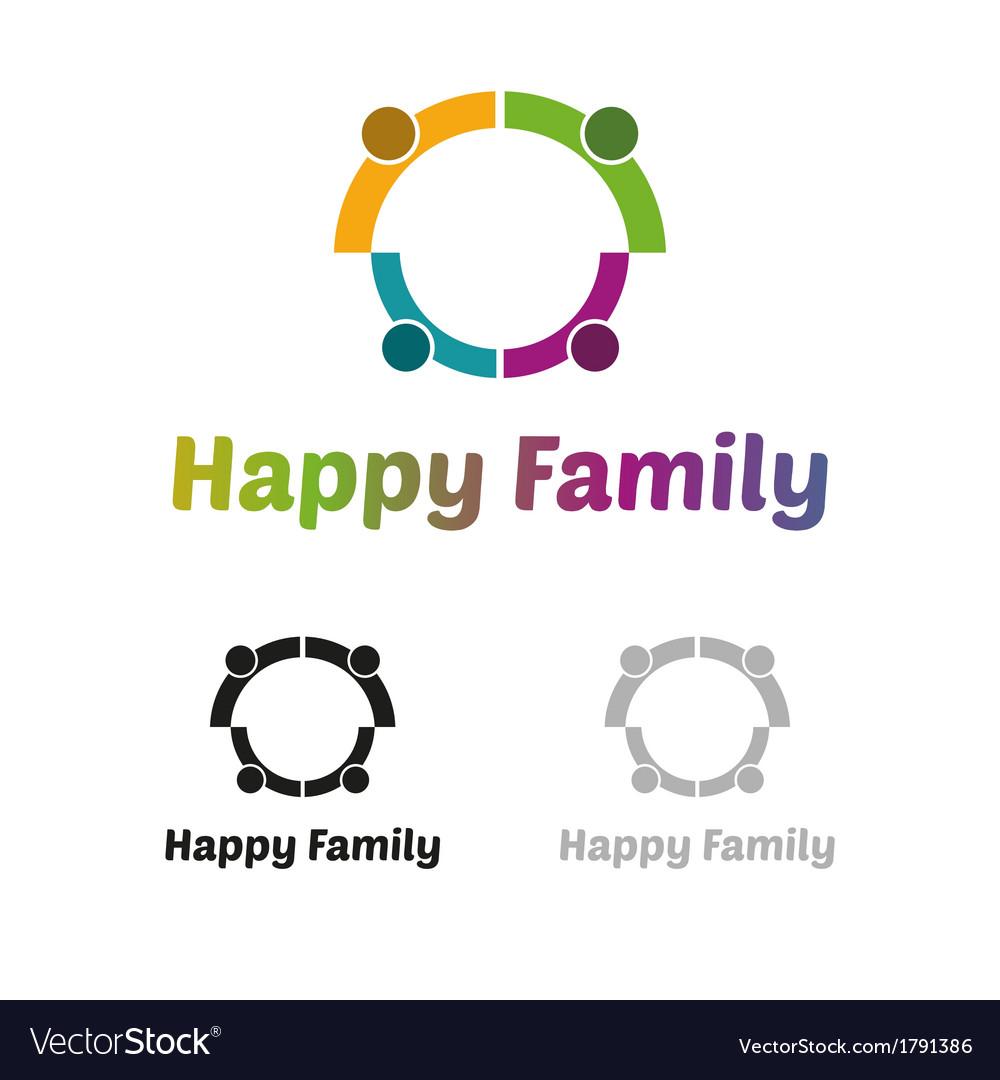 Happy family logo vector | Price: 1 Credit (USD $1)