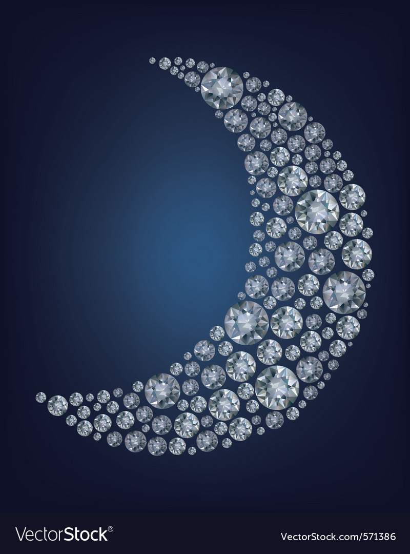 Moon shape diamonds vector | Price: 1 Credit (USD $1)