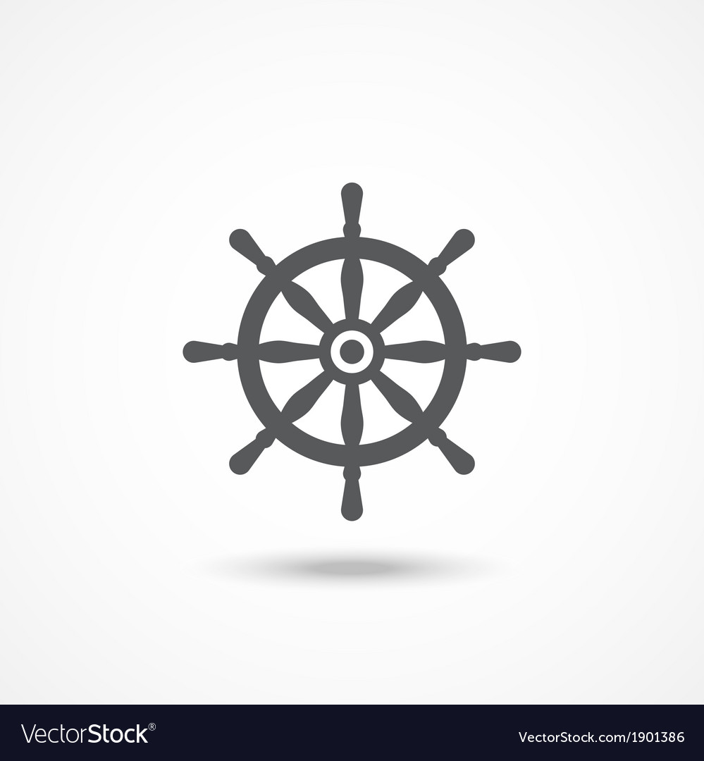 Rudder icon vector | Price: 1 Credit (USD $1)