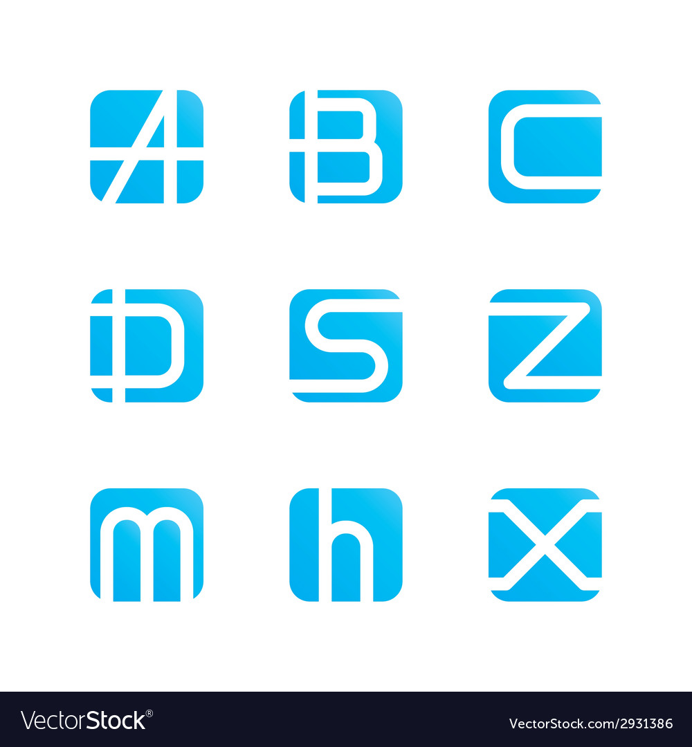 Set of letters vector | Price: 1 Credit (USD $1)