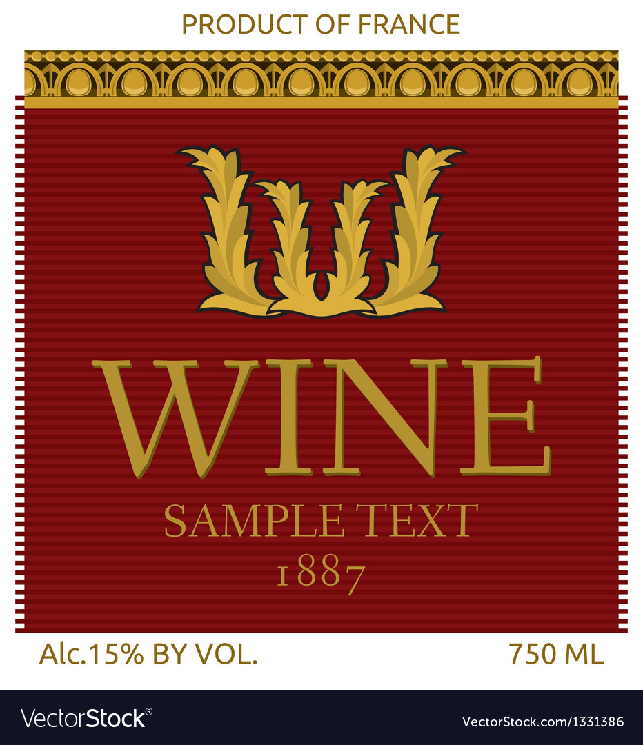 Wine label design vector | Price: 1 Credit (USD $1)