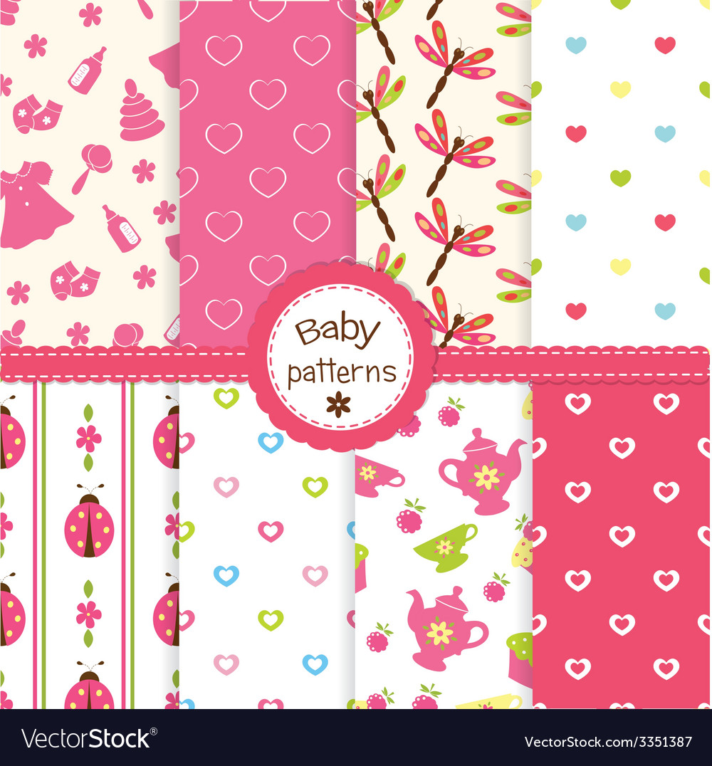Baby patterns vector | Price: 1 Credit (USD $1)