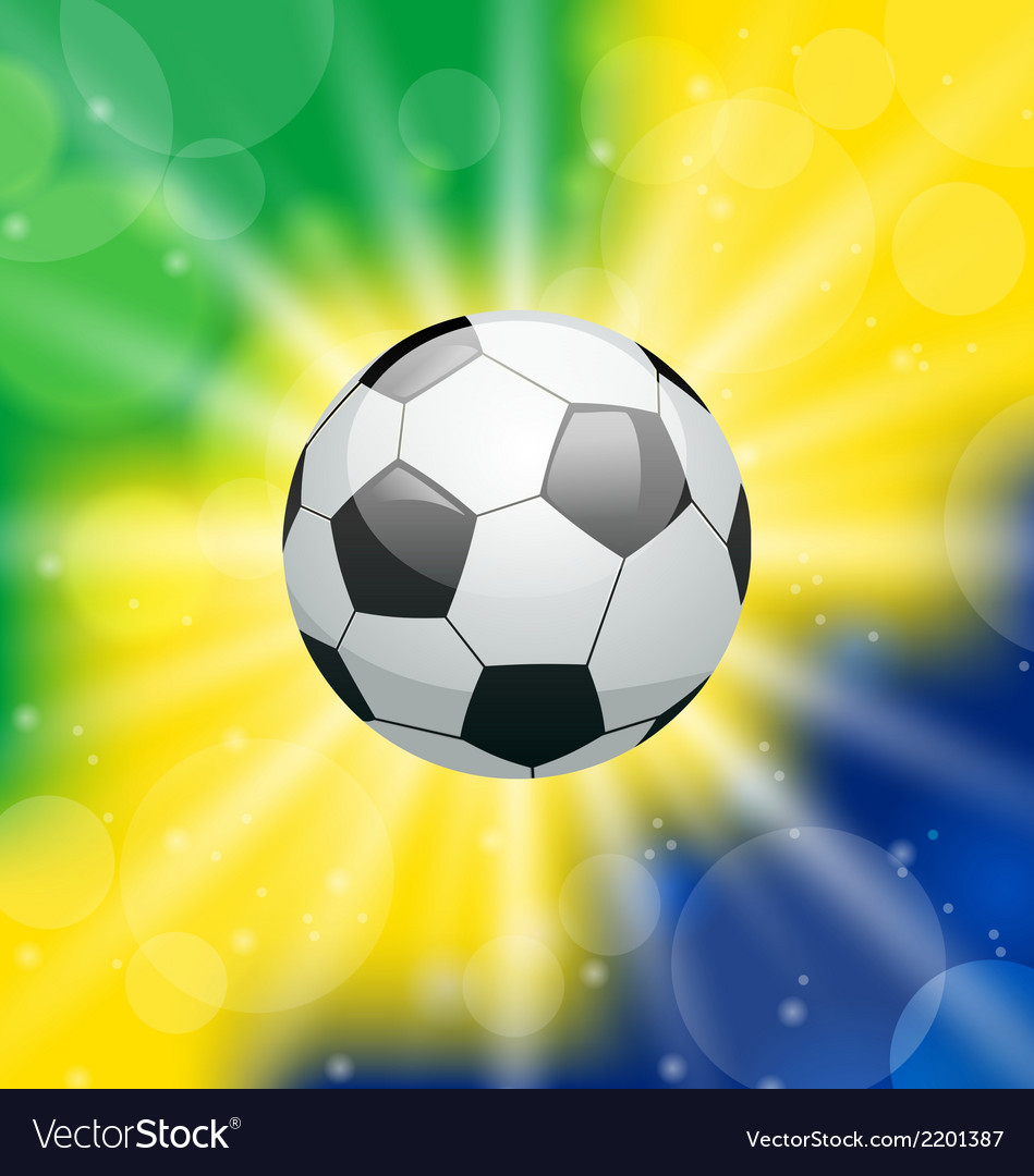 Background with soccer ball for brazil 2014 vector | Price: 1 Credit (USD $1)