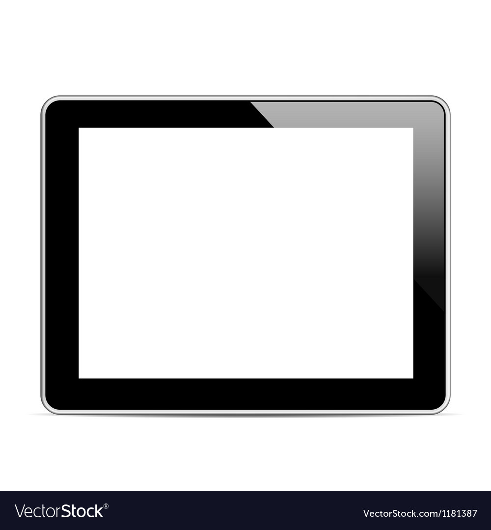 Black tablet computer tablet vector | Price: 1 Credit (USD $1)