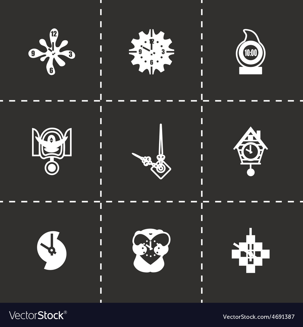 Clock icon set vector | Price: 1 Credit (USD $1)