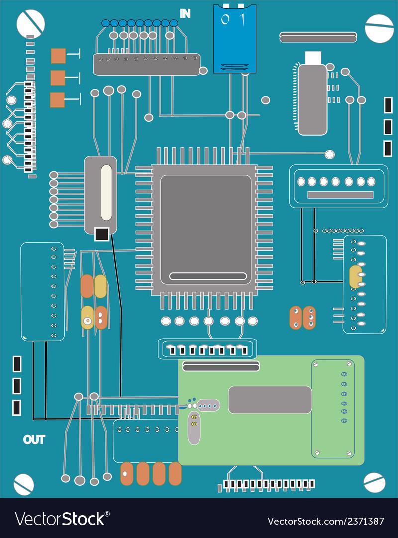 Computer board vector | Price: 1 Credit (USD $1)