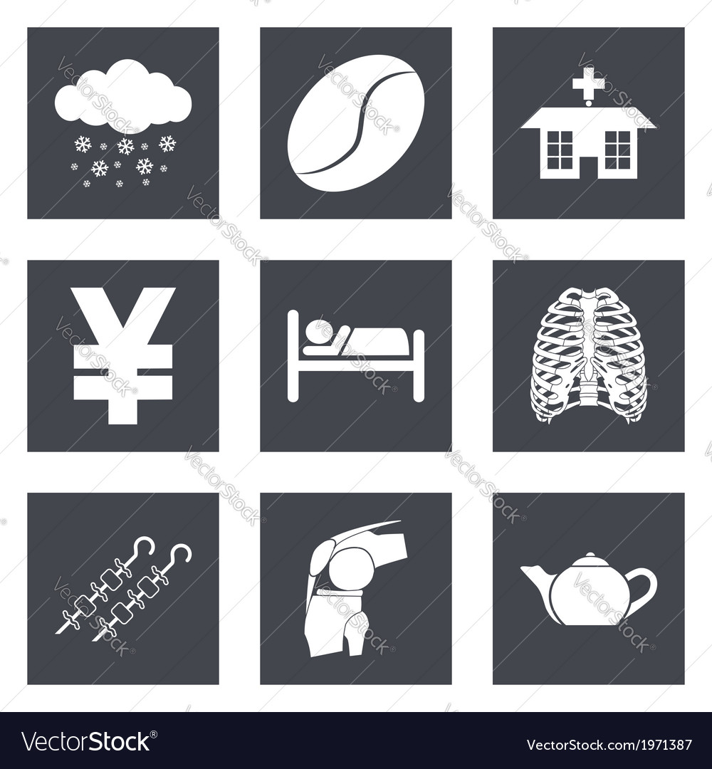 Icons for web design and mobile applications set 7 vector | Price: 1 Credit (USD $1)