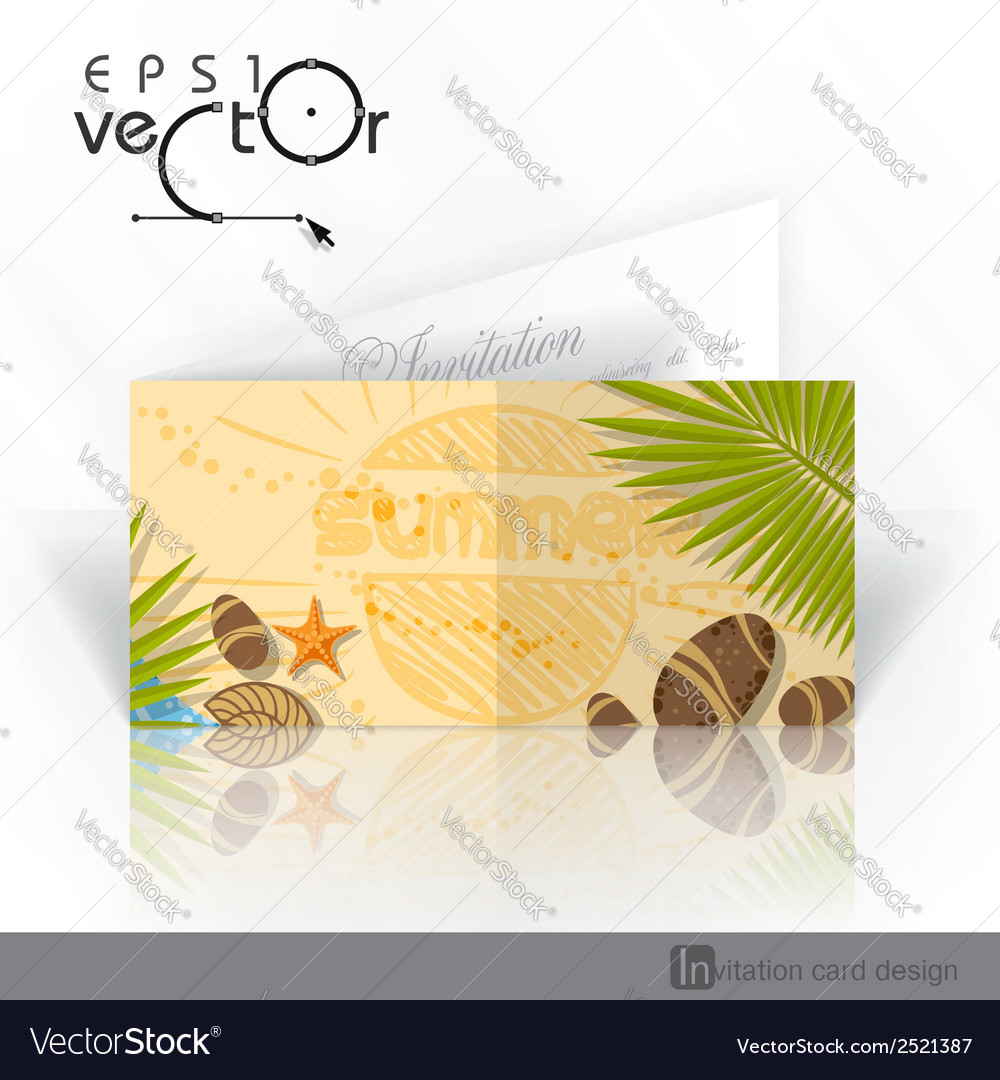 Invitation card design template vector | Price: 1 Credit (USD $1)