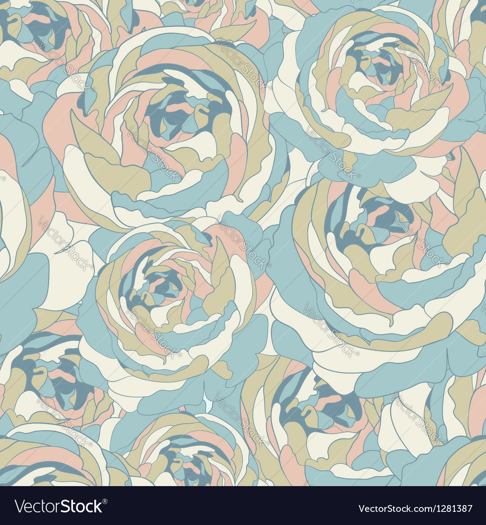 Ornate floral seamless texture vector | Price: 1 Credit (USD $1)