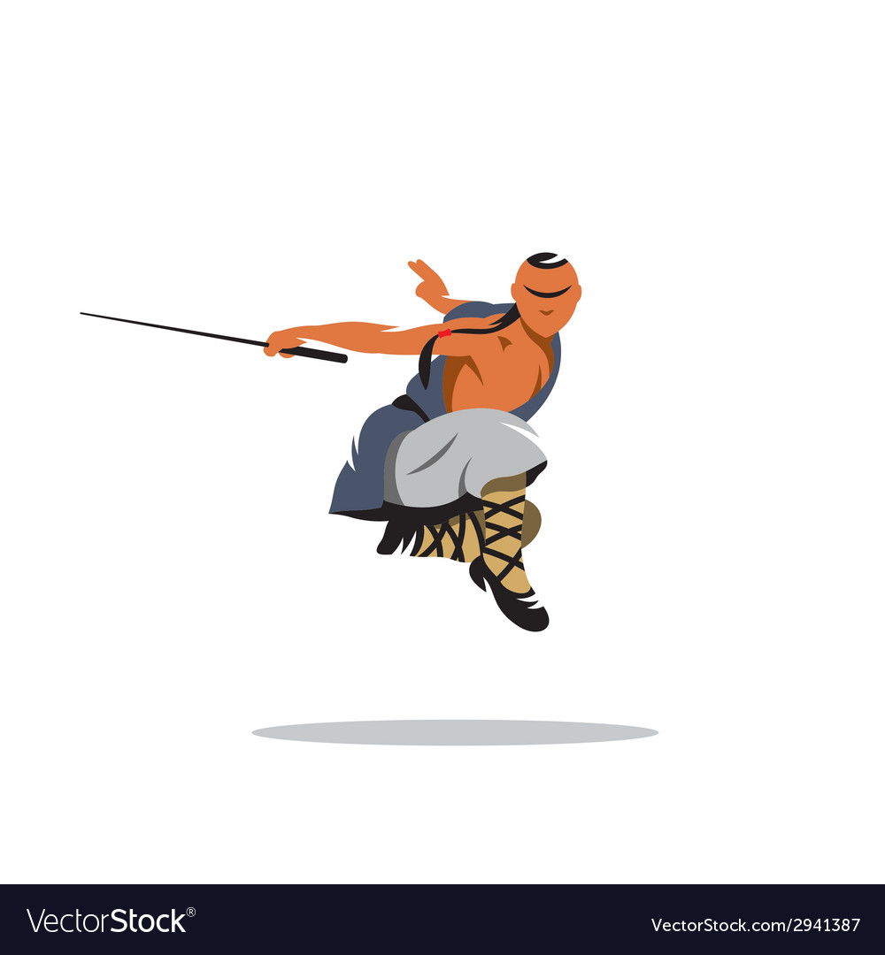 Shaolin monk veector sign vector | Price: 1 Credit (USD $1)