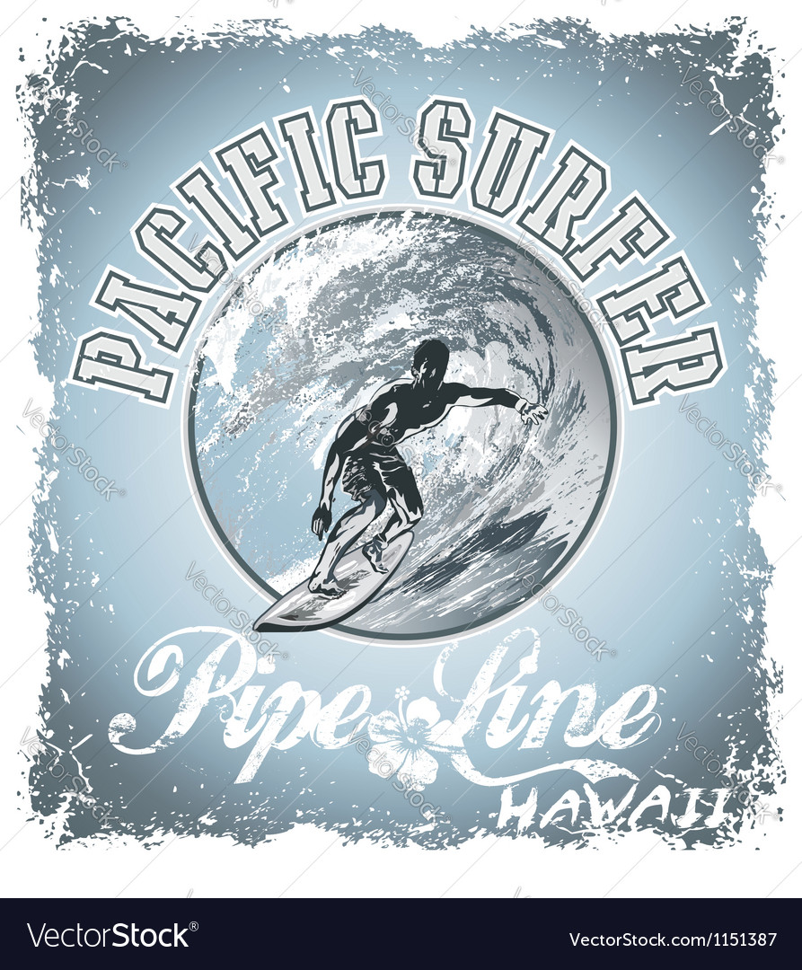 Surf pacific vector | Price: 1 Credit (USD $1)