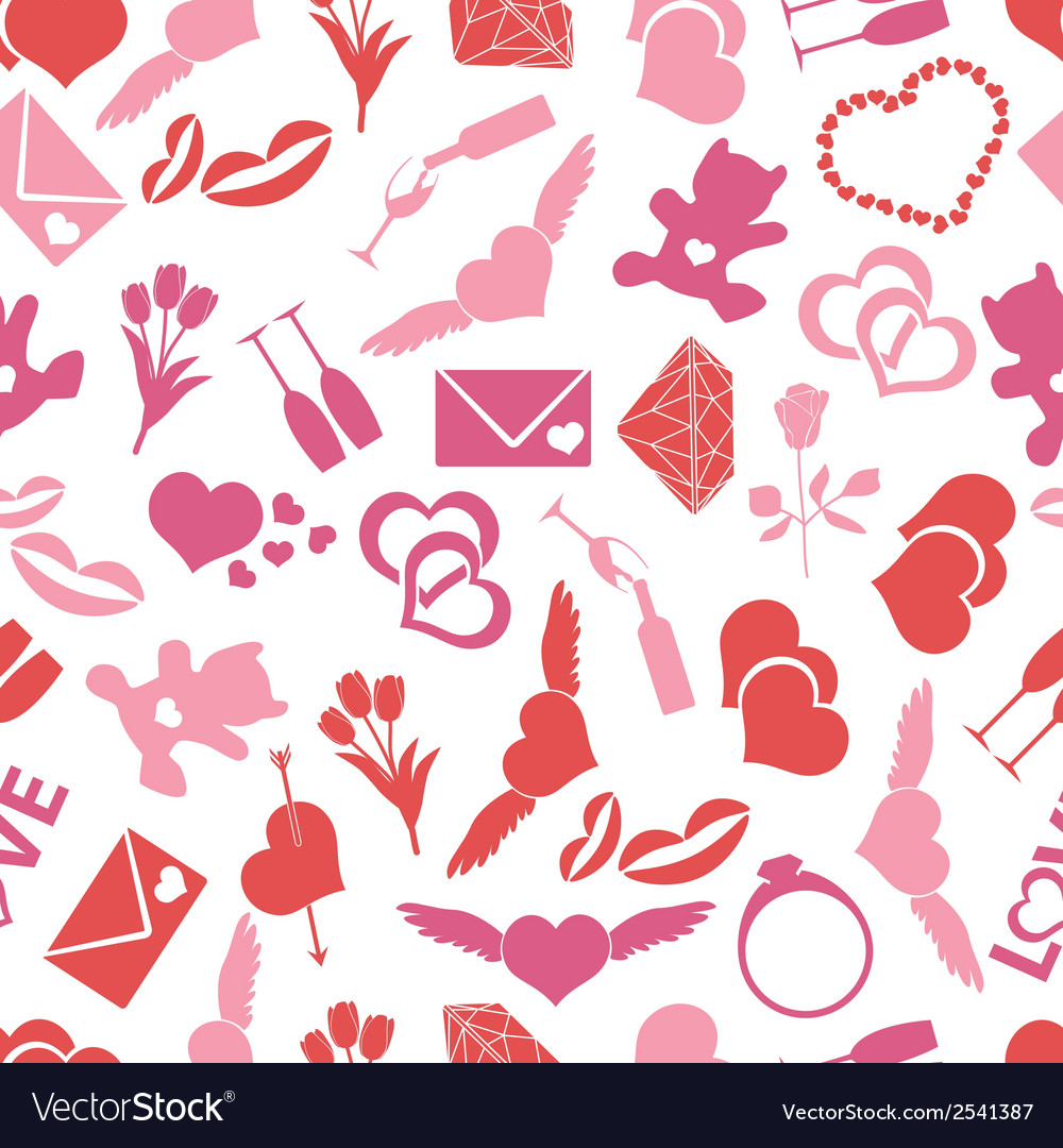 Valentines day and love color pattern eps10 vector | Price: 1 Credit (USD $1)
