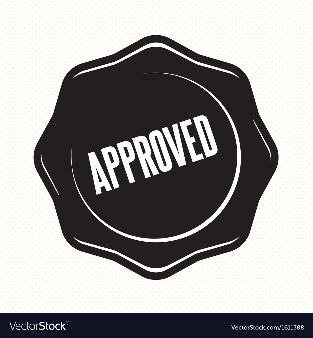 Approved retro vintage badges vector | Price: 1 Credit (USD $1)