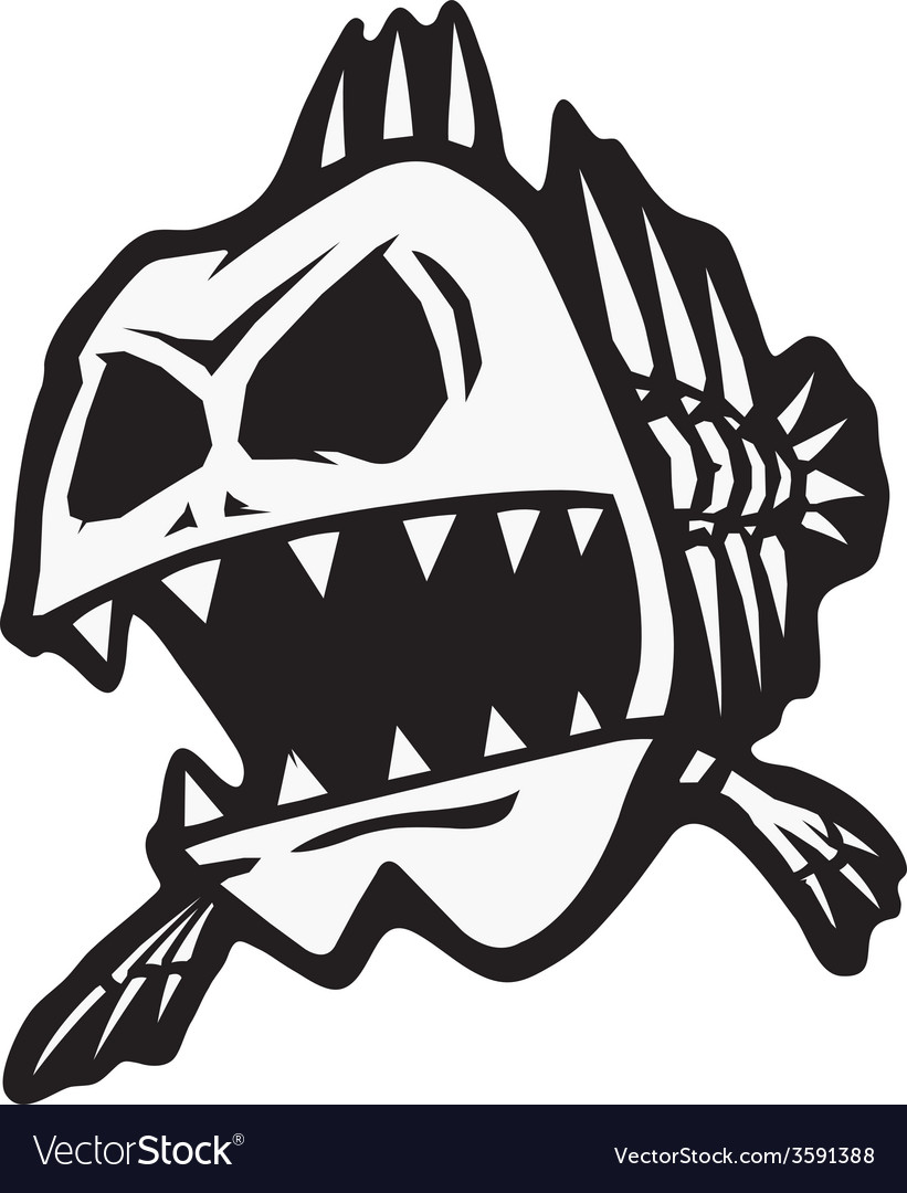 Bad bone fish vector | Price: 1 Credit (USD $1)