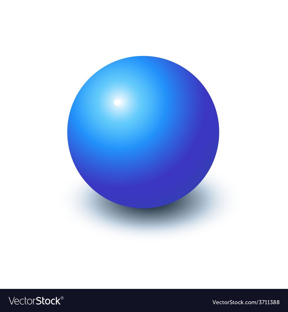 Blank blue sphere vector | Price: 1 Credit (USD $1)