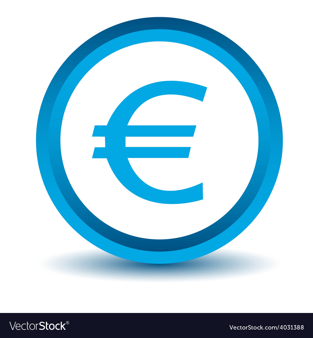 Blue euro icon vector | Price: 1 Credit (USD $1)