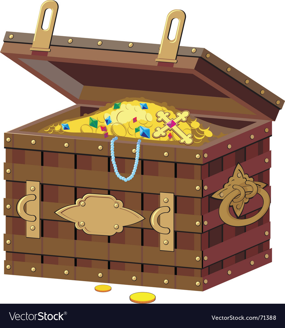 Chest with treasures vector | Price: 1 Credit (USD $1)