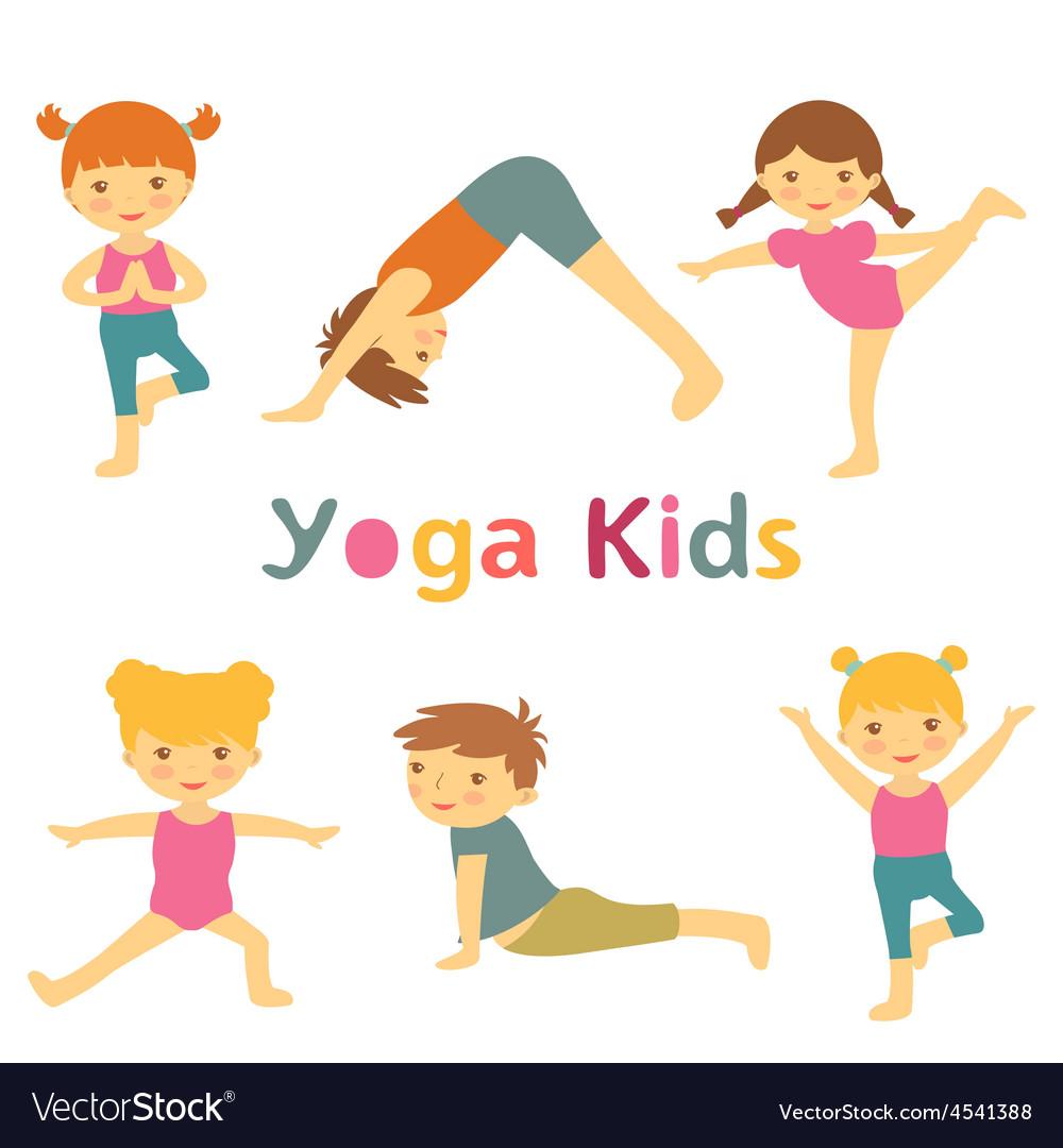 Cute yoga kids vector | Price: 1 Credit (USD $1)