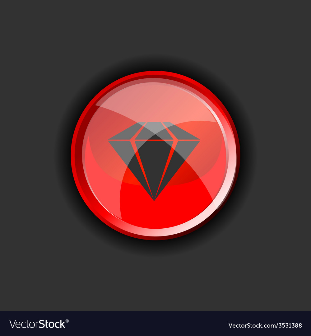 Diamond on red on a black background vector | Price: 1 Credit (USD $1)