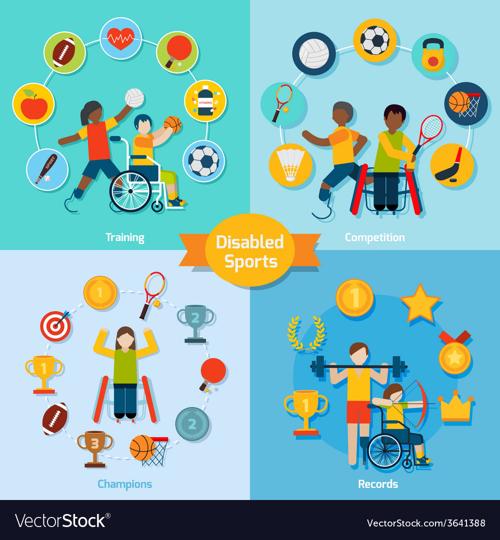 Disabled sport set vector | Price: 1 Credit (USD $1)
