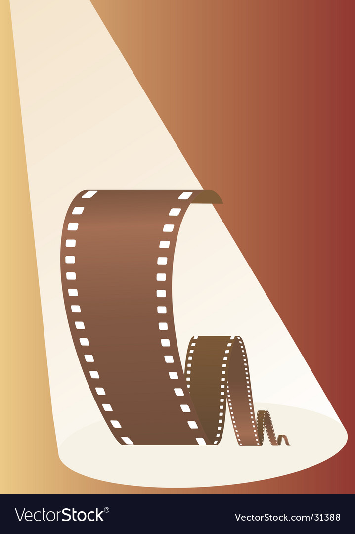 Film in beams of projector vector | Price: 1 Credit (USD $1)