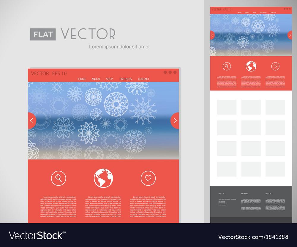 Flat website design template vector | Price: 1 Credit (USD $1)