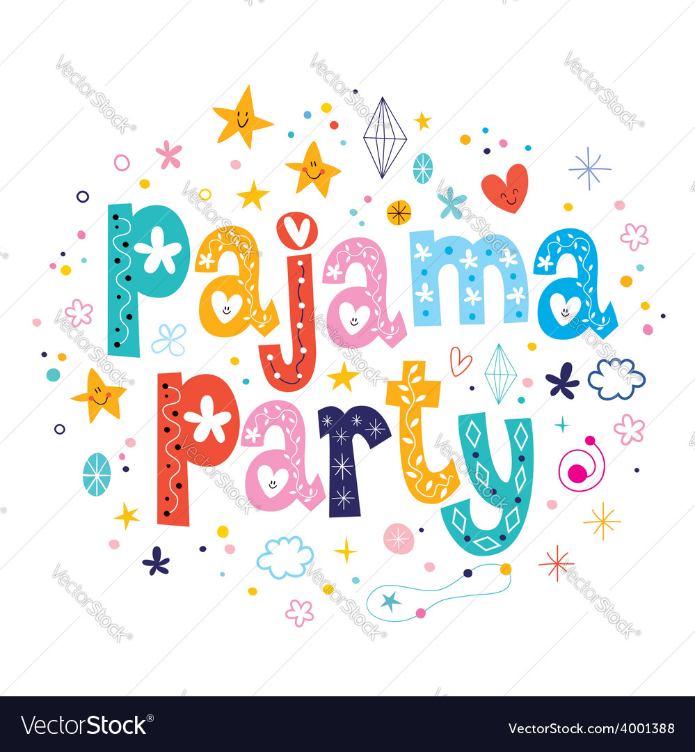Pajama party vector | Price: 1 Credit (USD $1)