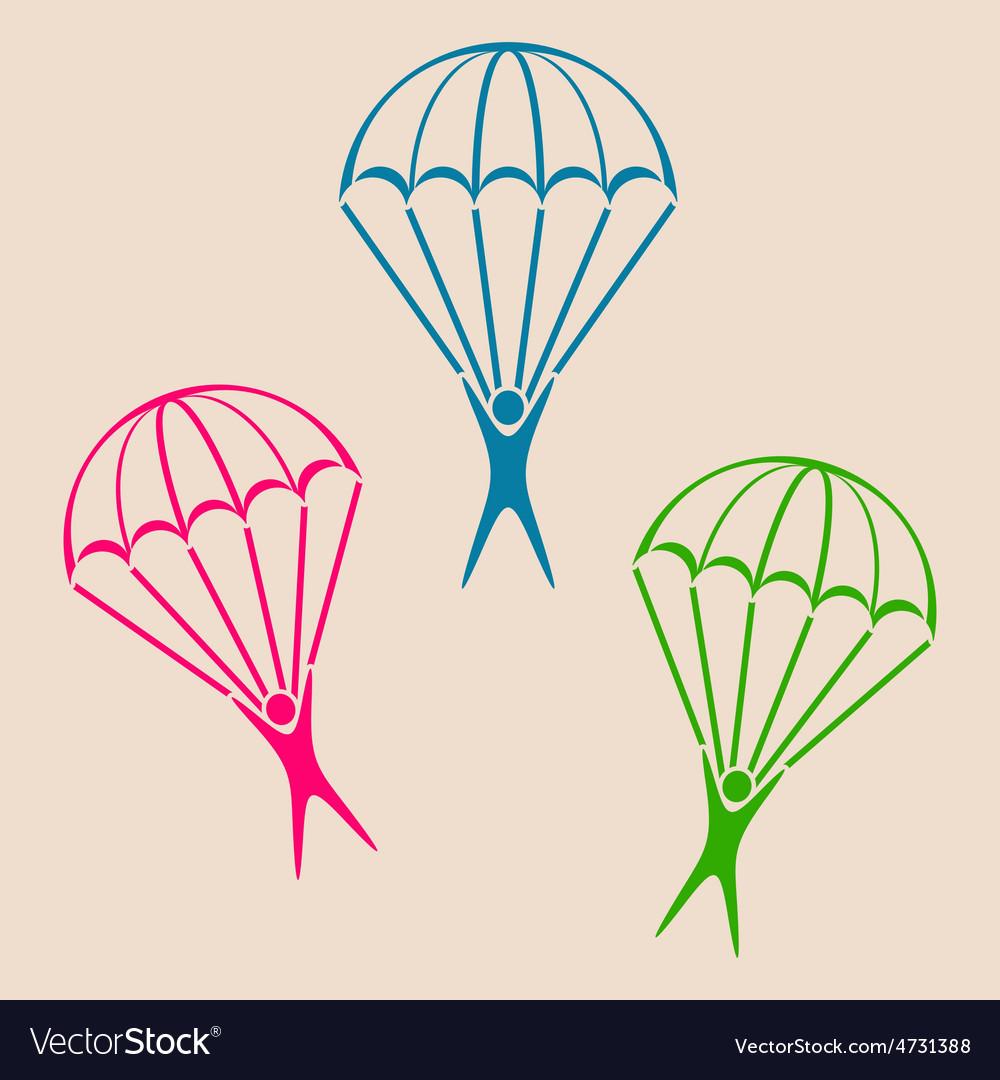 Parachute jumper icon vector | Price: 1 Credit (USD $1)