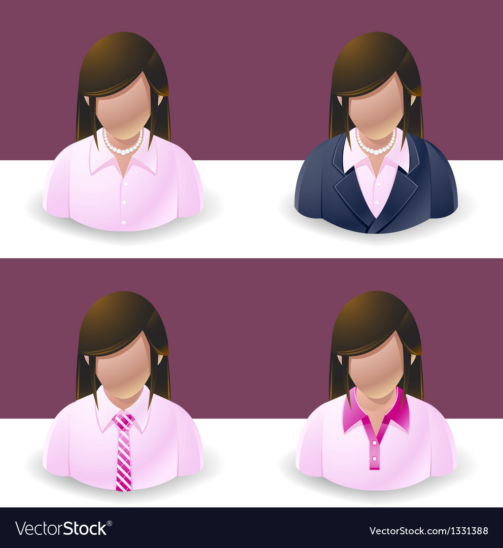 People icons women vector | Price: 3 Credit (USD $3)