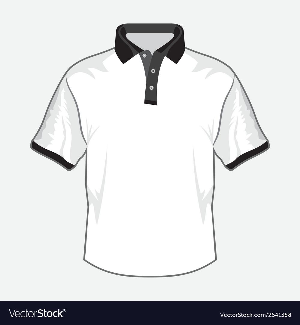 Polo majica crna kragna vector | Price: 1 Credit (USD $1)
