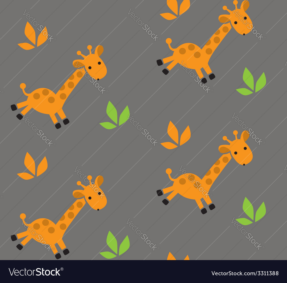 Seamless pattern with funny giraffes vector | Price: 1 Credit (USD $1)