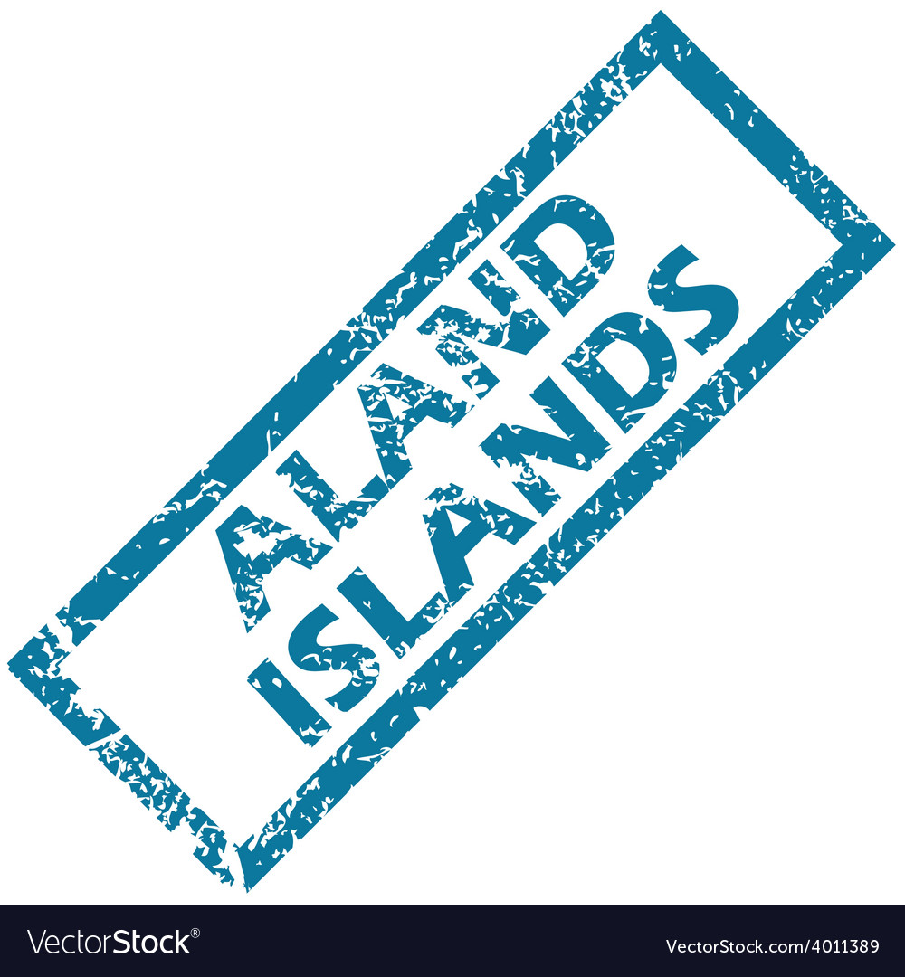 Aland islands rubber stamp vector | Price: 1 Credit (USD $1)