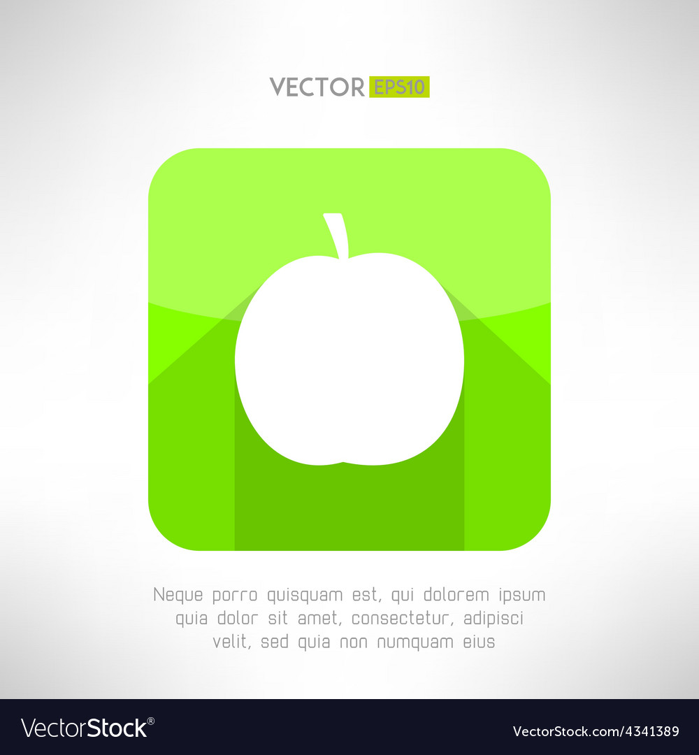 Apple icon in modern clean and simple flat design vector | Price: 1 Credit (USD $1)