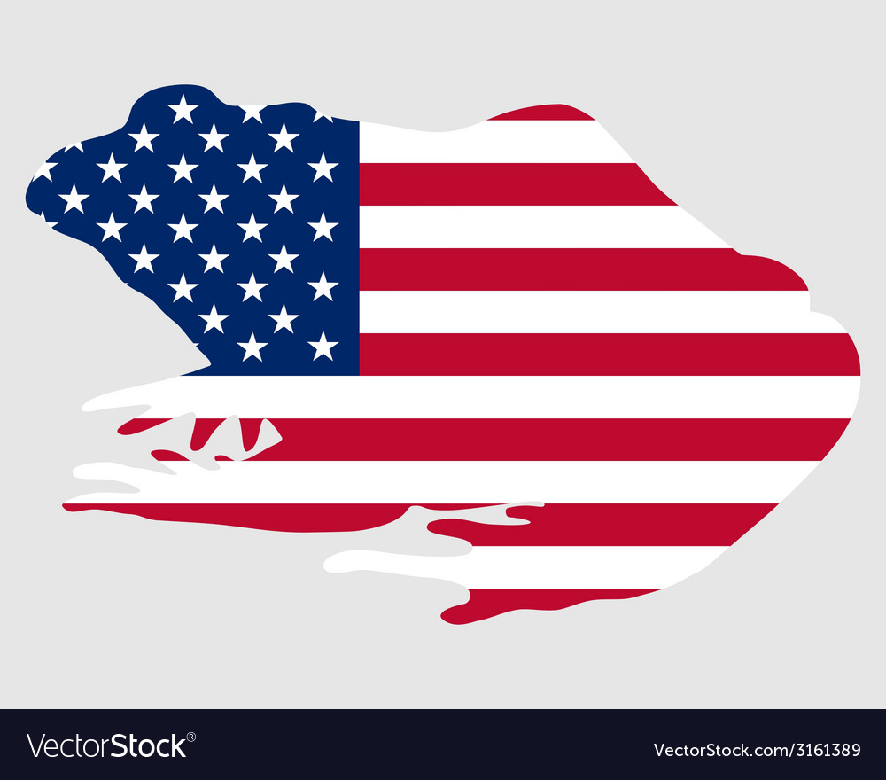 Bullfrog usa vector | Price: 1 Credit (USD $1)