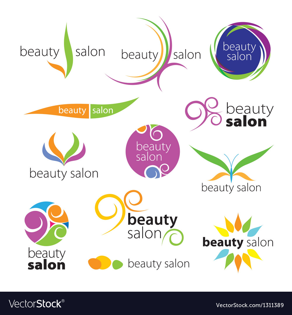 Collection of logos beauty salons vector