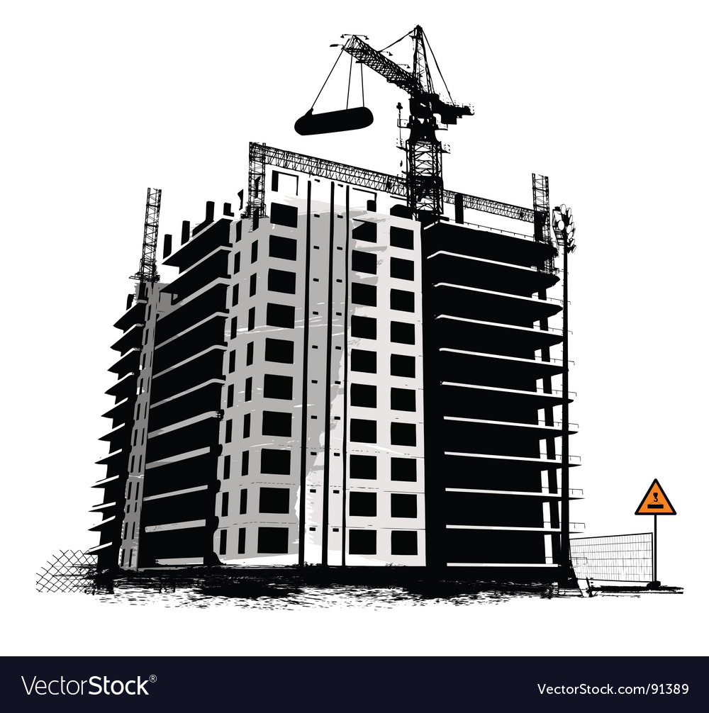 Construction work site vector | Price: 1 Credit (USD $1)