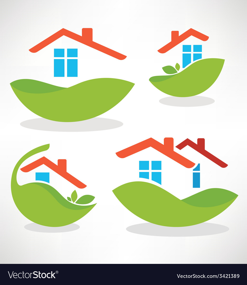 Eco homes vector | Price: 1 Credit (USD $1)